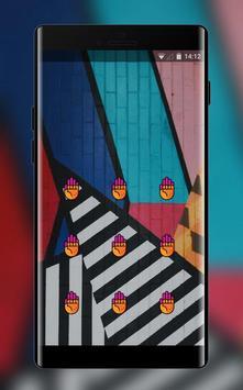 abstract shape art design lock theme screenshot 1