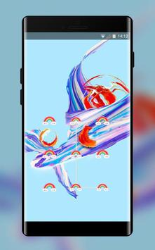 Lock theme for colorful brilliant oneplus 5t poster