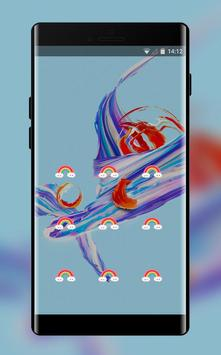Lock theme for colorful brilliant oneplus 5t screenshot 1
