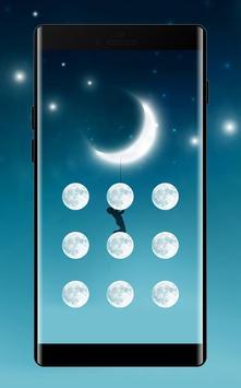 Moon APP Lock Theme Crescent Pin Lock Screen poster