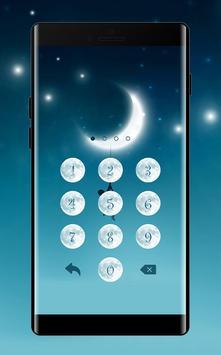 Moon APP Lock Theme Crescent Pin Lock Screen apk screenshot