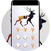 Deer APP LOCK Theme Horn Pin Lock Screen icon