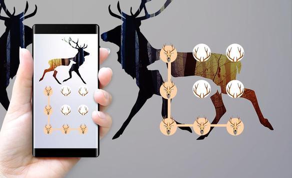Deer APP LOCK Theme Horn Pin Lock Screen screenshot 3