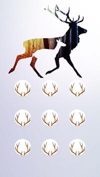 Deer APP LOCK Theme Horn Pin Lock Screen poster