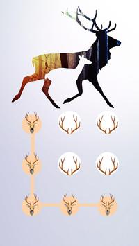 Deer APP LOCK Theme Horn Pin Lock Screen screenshot 1