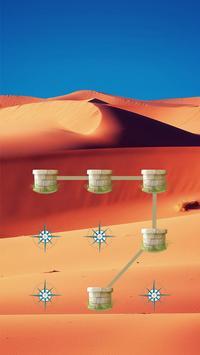 Desert APP Lock Theme Compass Pin Lock Screen poster