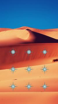 Desert APP Lock Theme Compass Pin Lock Screen screenshot 1