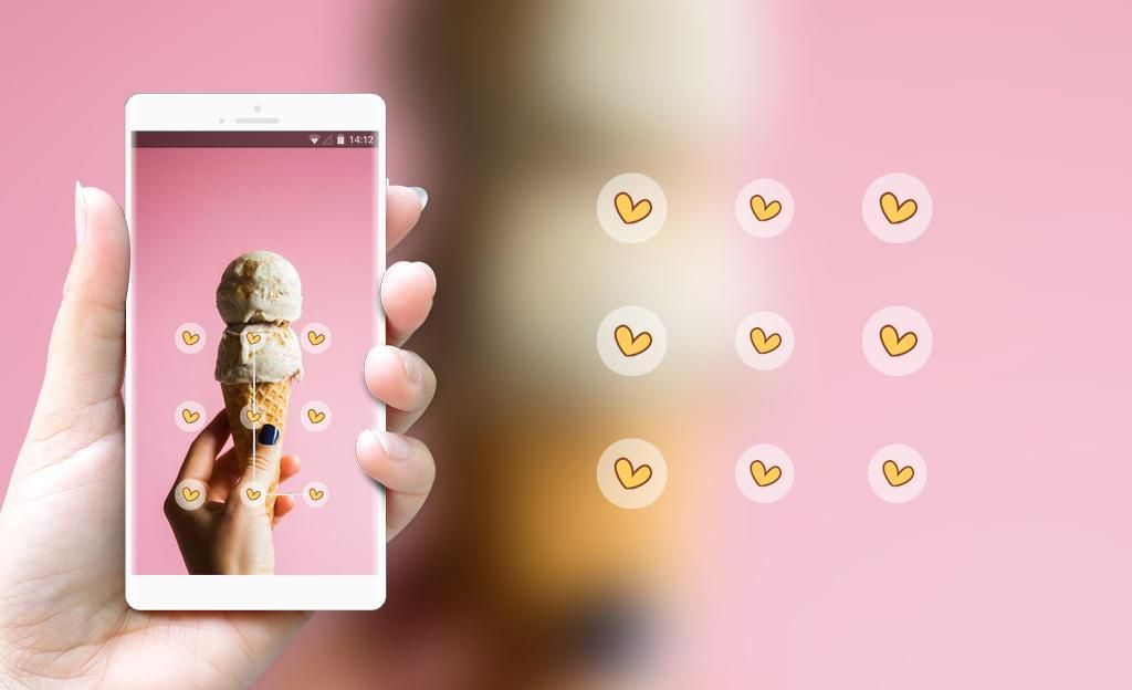 Lock Theme For Pink Ice Cream Wallpaper For Android Apk