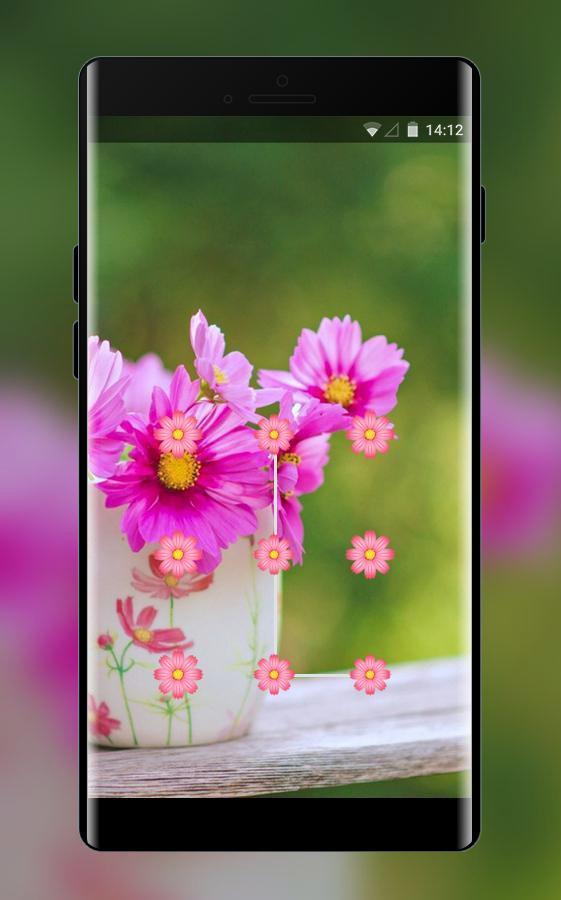 Lock theme for oppo a83 flower garden wallpaper for Android