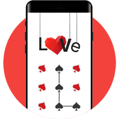 HeartS APP Lock Theme Poker Pin Lock Screen icon
