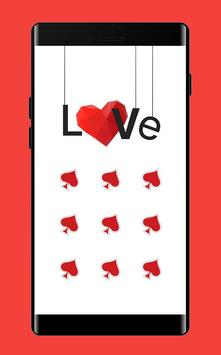 HeartS APP Lock Theme Poker Pin Lock Screen poster