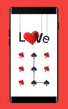 HeartS APP Lock Theme Poker Pin Lock Screen apk screenshot