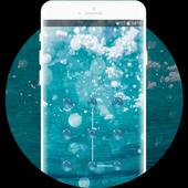 sea beach undersea bubbles lock theme icon