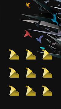 Crane APP Lock Theme Abstract Pin Lock Screen apk screenshot