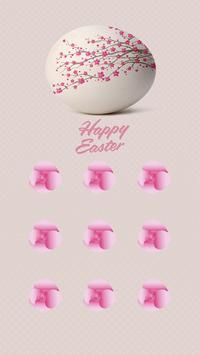 Peach APP Lock Theme Easter Egg Pin Lock Screen apk screenshot