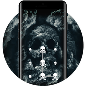 Bones APP Lock Theme 3D Skull Pin Lock Screen icon
