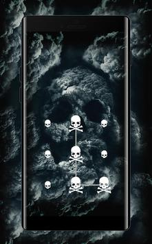 Bones APP Lock Theme 3D Skull Pin Lock Screen screenshot 1