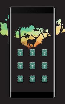 Stamp APP Lock Theme Elk Pin Lock Screen poster