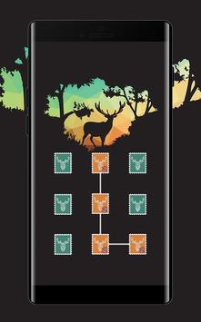 Stamp APP Lock Theme Elk Pin Lock Screen screenshot 1