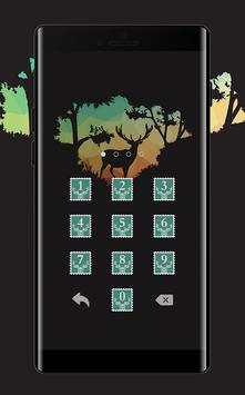 Stamp APP Lock Theme Elk Pin Lock Screen screenshot 2