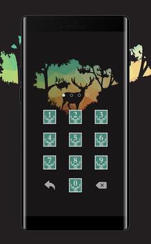 Stamp APP Lock Theme Elk Pin Lock Screen apk screenshot