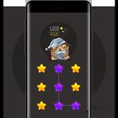 Star APP Lock Theme Owl Pin Lock Screen icon