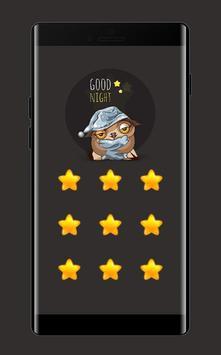 Star APP Lock Theme Owl Pin Lock Screen poster