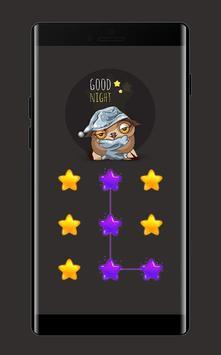 Star APP Lock Theme Owl Pin Lock Screen screenshot 1