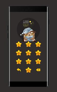 Star APP Lock Theme Owl Pin Lock Screen screenshot 2