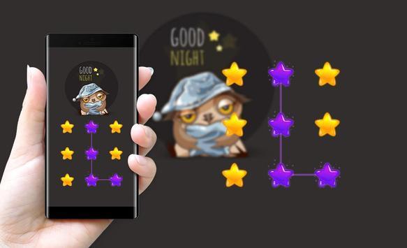Star APP Lock Theme Owl Pin Lock Screen screenshot 3