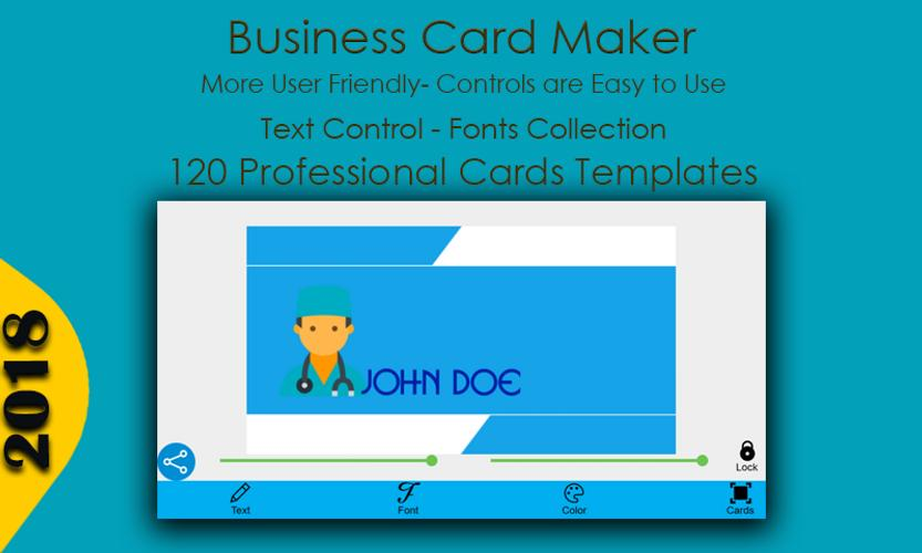 Business card maker for android apk download business card maker poster reheart Image collections