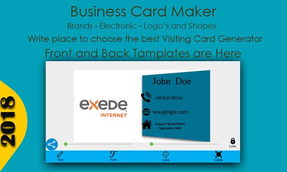Business card maker for android apk download business card maker screenshot 4 reheart Gallery