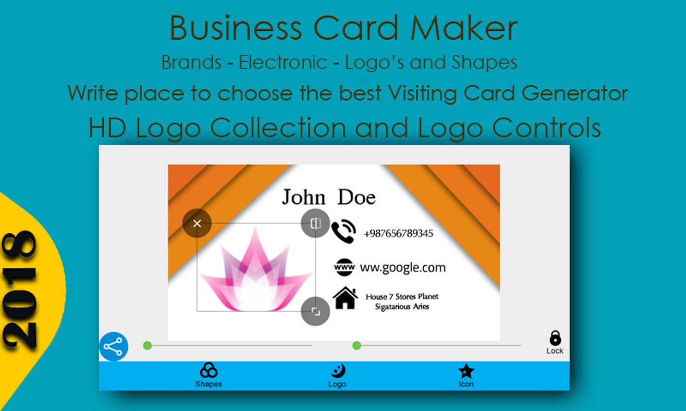 Business card maker for android apk download business card maker screenshot 5 colourmoves
