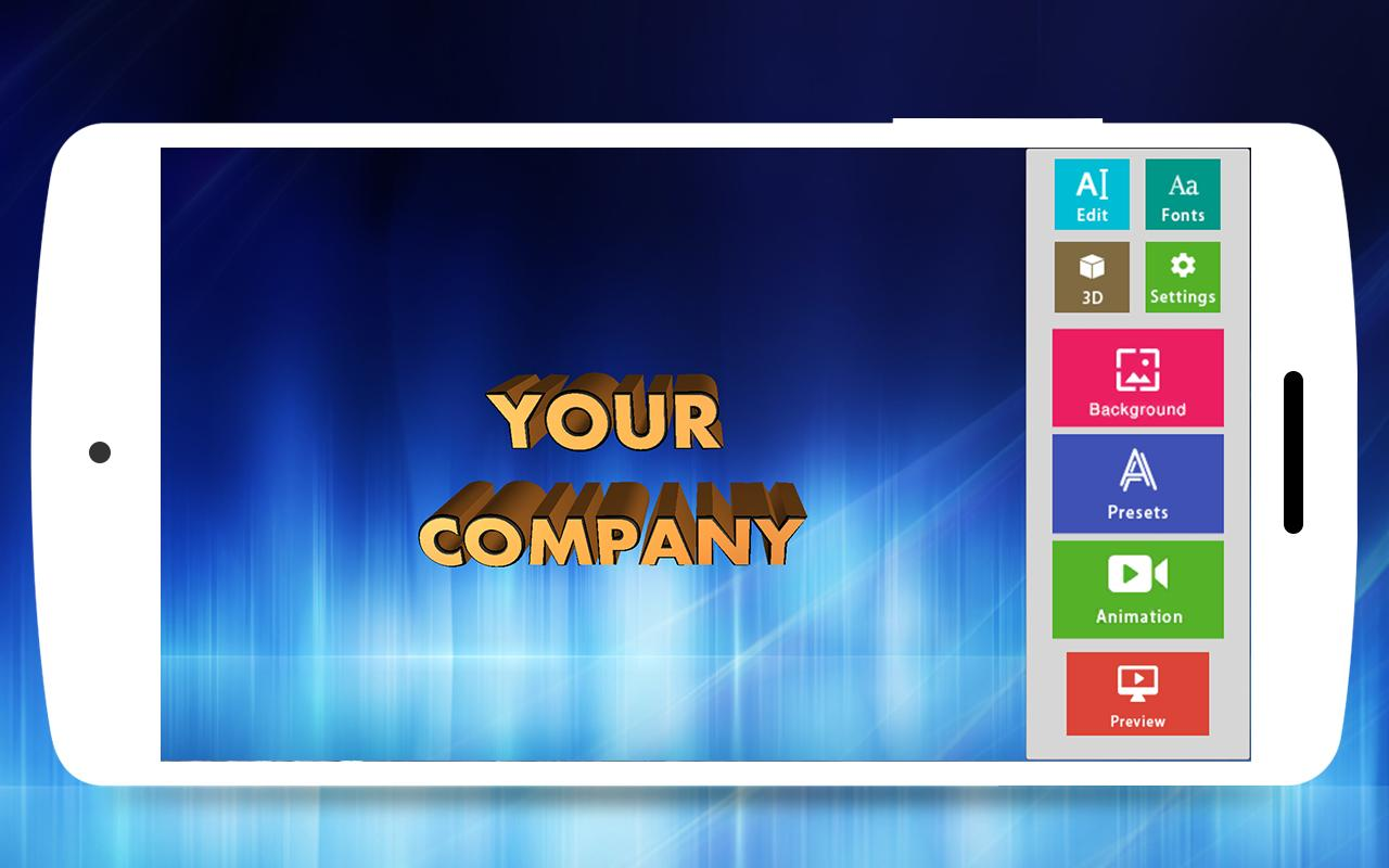 Gratis download aplikasi 3D Text Animator - Intro Maker, 3D Logo Animation