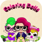 Lol dolls coloring book WOW icon