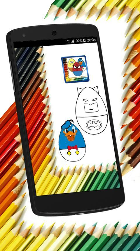 Surprise Eggs Coloring Superheroes & Cartoons for Android ...