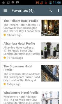 London Hotels apk screenshot
