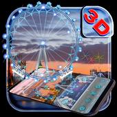 3D London Eye Ferris wheel Theme icon