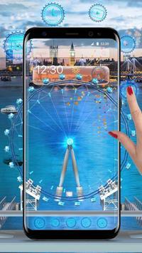 3D London Eye Ferris wheel Theme poster