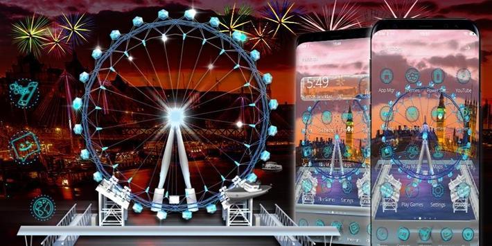 3D London Eye Ferris wheel Theme apk screenshot