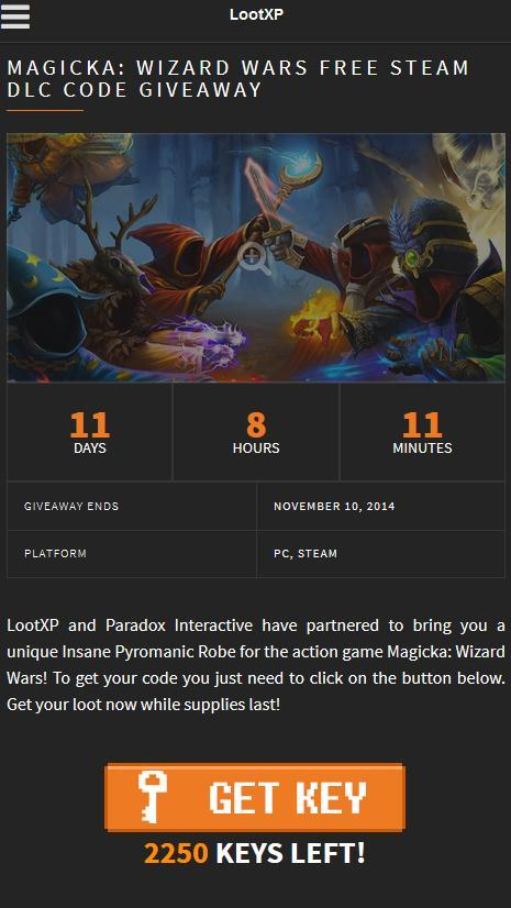 LootXP: Steam codes, Giveaways for Android - APK Download