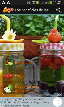 Los beneficios de las frutas poster