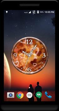 Glitter Clock Live Wallpaper poster