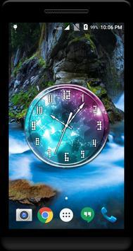 Glitter Clock Live Wallpaper apk screenshot