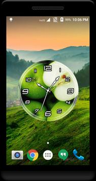 Green Apple Clock Live WP apk screenshot