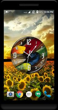 Feathers Clock Live Wallpaper apk screenshot