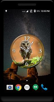 Owl Clock Live Wallpaper poster