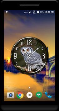 Owl Clock Live Wallpaper apk screenshot