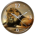 Lions Clock Live Wallpaper