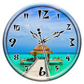 Paradise Clock Live Wallpaper icon